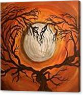 Love Under The Moon Canvas Print