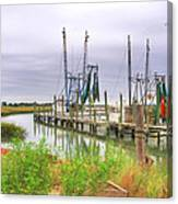 Lowcountry Shrimp Dock Canvas Print