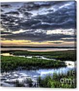 Cloud Reflections Over The Marsh Canvas Print