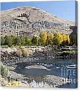 744p Lucky Peak Dam Sandy Point Id Canvas Print