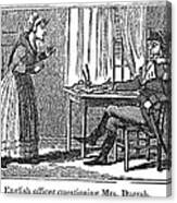 Lydia Darrah, 1777 Canvas Print