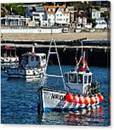 Lyme Regis Harbour Canvas Print