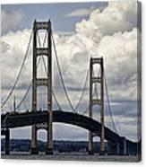 Mackinaw Bridge By The Straits Of Mackinac Canvas Print