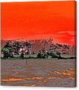 Louisiana Sunset Of The Madisonville Lighthouse  Canvas Print