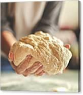 Making Yeast Dough Canvas Print