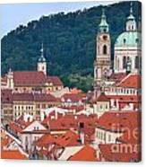 Mala Strana In Prague  Canvas Print