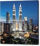 Malaysia, Kuala Lumpur, Petronas Towers Canvas Print