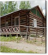 Mamma Cabin At The Holzwarth Historic Site Canvas Print