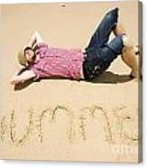Man Of Summer Canvas Print