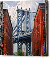 Manhattan Bridge View Canvas Print