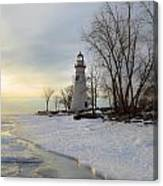 Marblehead Lighthouse Winter Sunrise Canvas Print
