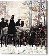 March To Valley Forge Canvas Print