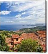 Marciana Village - Elba Island Canvas Print