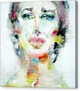 Maria Callas - Watercolor Portrait.2 Canvas Print
