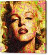 Marilyn Monroe - Maple Leaves Canvas Print