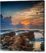 Marineland Beach Sunrise Canvas Print