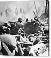 Marines Fight At Tarawa Canvas Print