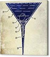 Martini Glass Patent Drawing Two Tone  Canvas Print