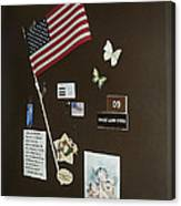 Mary Ann Guss' Patriotic Door Baldwin City Kansas 2002 Canvas Print