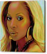 Mary J Blige Canvas Print