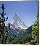 Matterhorn In Zermatt Canvas Print