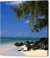Mauritius Blue Sea Canvas Print