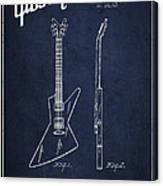 Mccarty Gibson Electrical Guitar Patent Drawing From 1958 - Navy Blue Canvas Print