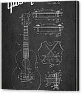 Mccarty Gibson Stringed Instrument Patent Drawing From 1969 - Dark Canvas Print
