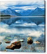 Mcdonald Lake Canvas Print