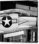 Mcdonnell F3h2n F3b F3 Demon On The Flight Deck On Display At The Intrepid Sea Air Space Museum Canvas Print