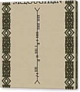 Mcloughlin Written In Ogham Canvas Print