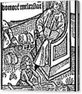 Medical Teaching, 1487 Canvas Print