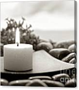 Meditation Candle Canvas Print