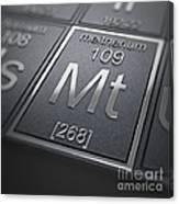 Meitnerium Chemical Element Canvas Print