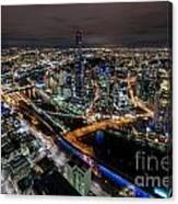 Melbourne At Night Vi Canvas Print