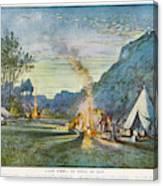 Members Of A Camping Club,  Having Canvas Print