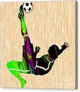 Womans Soccer Canvas Print