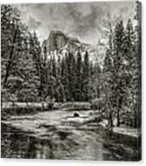 Ascending Clouds Toned Canvas Print