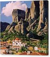 Meteora Greece Canvas Print