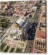 Mexico City Aerial View Canvas Print