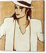 Michael Jackson Original Coffee Painting Canvas Print