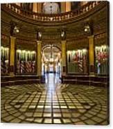 Michigan Capitol Flag Room Canvas Print