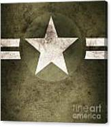 Military Army Star Background Canvas Print