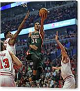 Milwaukee Bucks V Chicago Bulls - Game Canvas Print