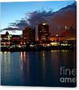 Milwaukee Skyline At Dusk Canvas Print