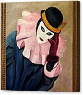 Mime With Thoughts Canvas Print
