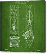 Mine Elevator Patent From 1892 - Green Canvas Print