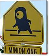 Minion Crossing Canvas Print
