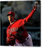 Minnesota Twins V Los Angeles Angels Of Canvas Print