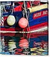 Miss Pattie At Lyme Regis Harbour  Canvas Print